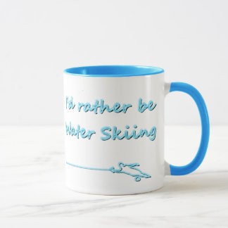 I'd Rather Be Water Skiing Mug