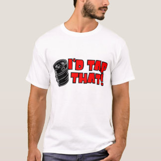 Id Tap That Keg Lets Party Black Red T-Shirt