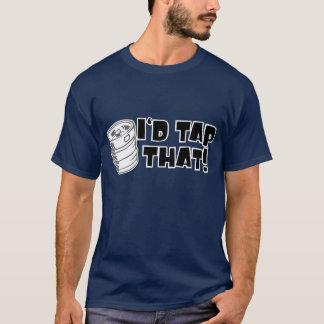 Id Tap That Keg Lets Party Grey Black T-Shirt