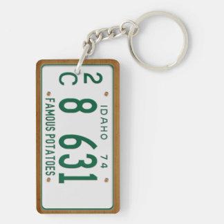 Idaho 1974 Vintage License Plate Keychain Rectangular Acrylic Keychain