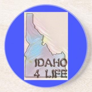"""Idaho 4 Life"" State Map Pride Design Coaster"