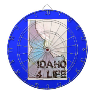 """Idaho 4 Life"" State Map Pride Design Dartboard"