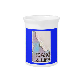 """Idaho 4 Life"" State Map Pride Design Pitcher"