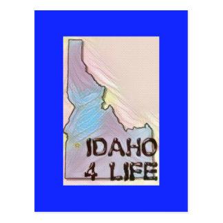 """Idaho 4 Life"" State Map Pride Design Postcard"