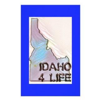 """Idaho 4 Life"" State Map Pride Design Stationery"