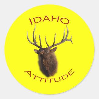 Idaho Attitude Round Sticker
