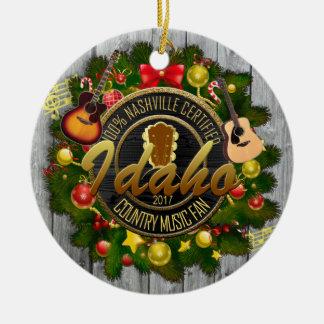 Idaho Country Music Fan Christmas Ornament