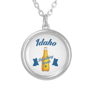 Idaho Drinking team Silver Plated Necklace