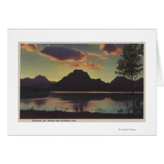 Idaho - Dusk View of Mt. Moran & Jackson Lake Card