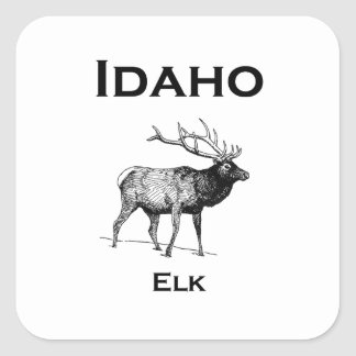 Idaho Elk Square Sticker