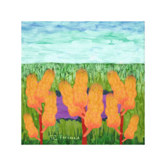 Idaho fields, golden weeds / painting canvas print