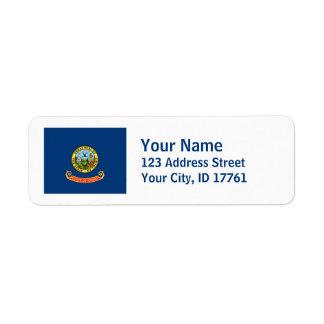 Idaho Flag Return Address Labels