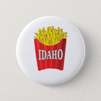 idaho french fries 6 cm round badge