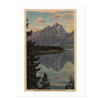 Idaho - Grand Teton Reflection on Jackson Lake Postcard