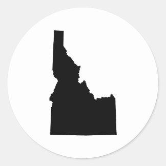 Idaho in Black Classic Round Sticker