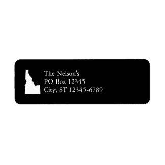 Idaho in White Return Address Label