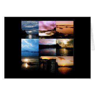 Idaho - Lake Pend Oreille - Sunrise Sunset card