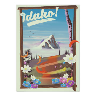 Idaho! landscape travel poster