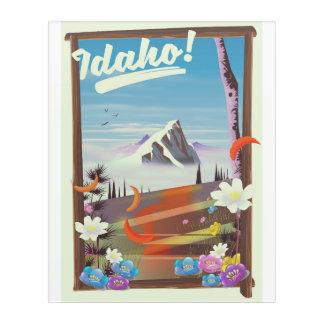 Idaho! landscape travel poster acrylic print