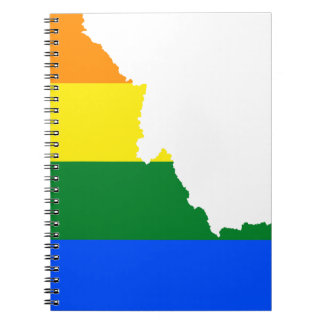 Idaho LGBT Flag Map Notebook