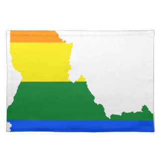 Idaho LGBT Flag Map Placemat