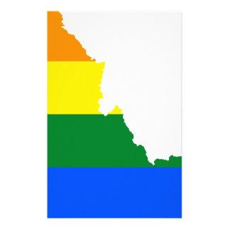 Idaho LGBT Flag Map Stationery