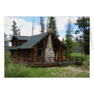 Idaho Log Cabin Card