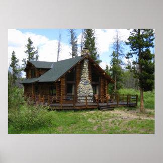 Idaho Log Cabin Poster
