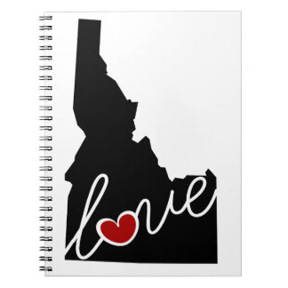 Idaho Love!  Gifts for ID Lovers Spiral Notebook