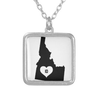 Idaho Love Silver Plated Necklace