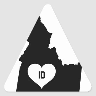 Idaho Love Triangle Sticker