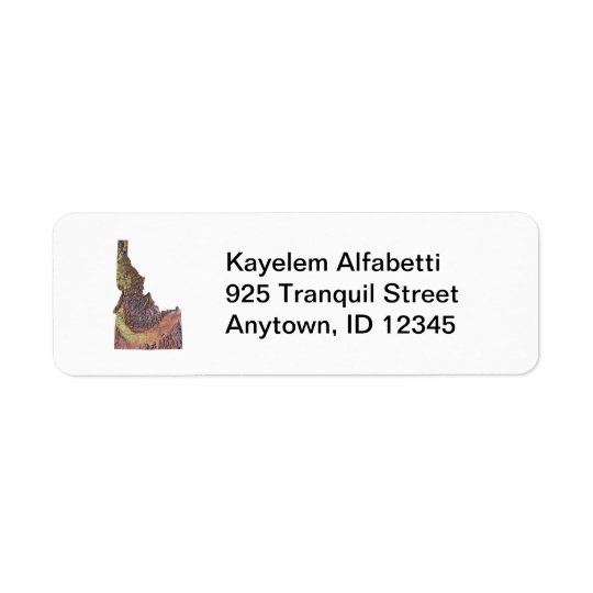Idaho Map Return Address Label