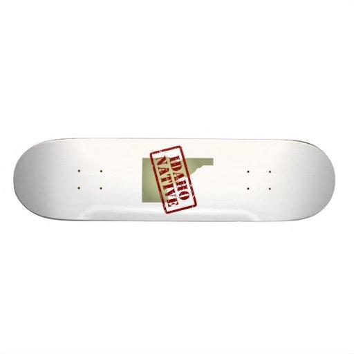 Idaho Native Stamped on Map Custom Skateboard