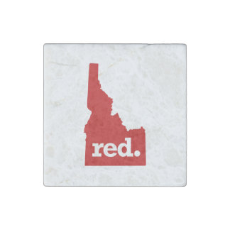 IDAHO RED STATE STONE MAGNET