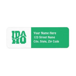 Idaho Return Address Label