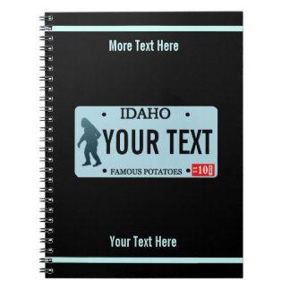 Idaho Sasquatch License Plate Notebooks