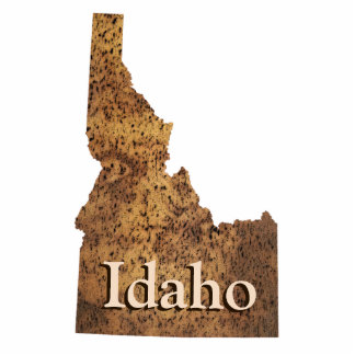 Idaho Spud Map Photo Sculpture Magnet