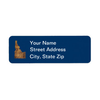 Idaho Spud Map Return Address Label