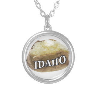 Idaho spud silver plated necklace
