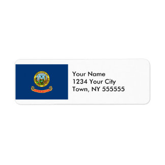 Idaho State Flag Return Address Label