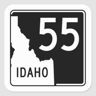 Idaho State Highway 55 Square Sticker