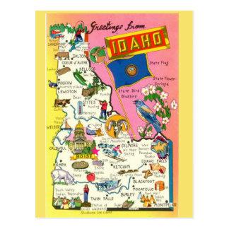 Idaho State  Map Postcard