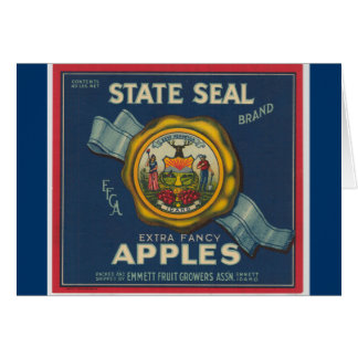 Idaho State Seal Apples Card
