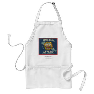 Idaho State Seal Apples Standard Apron