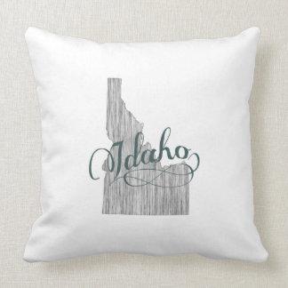 Idaho State Typography Cushion