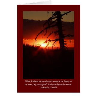 Idaho Sunset Blank Card
