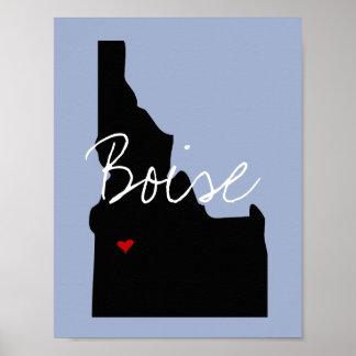 Idaho Town Poster