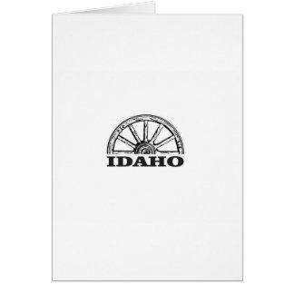 Idaho wagon wheel card