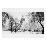 Idaho's Capitol Under Snow Greeting Card
