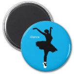 iDance (Blue) 6 Cm Round Magnet